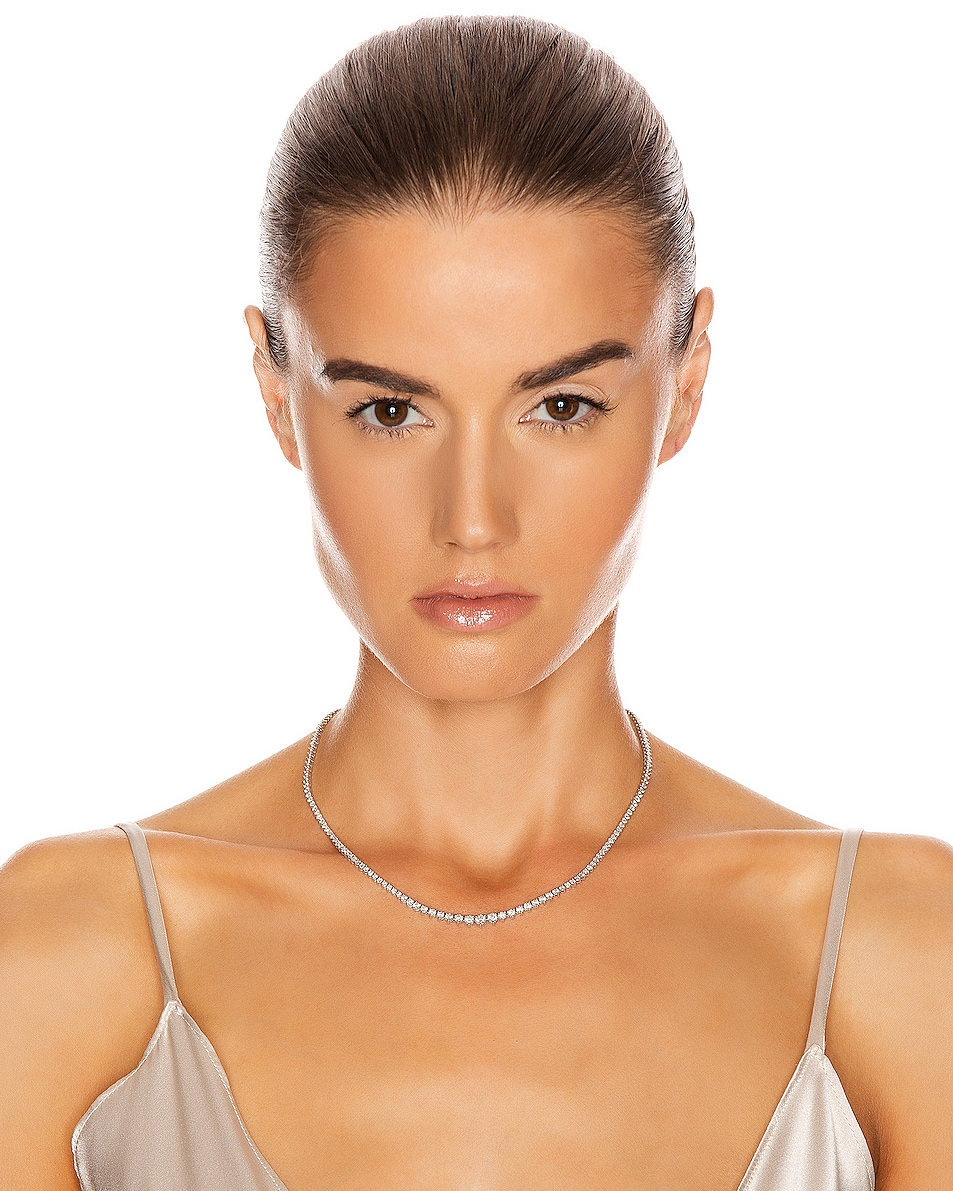 Image 2 of Carbon & Hyde Tennis Necklace in 14K White Gold