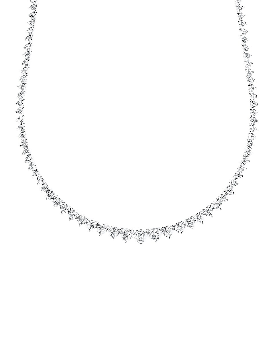 Image 3 of Carbon & Hyde Tennis Necklace in 14K White Gold