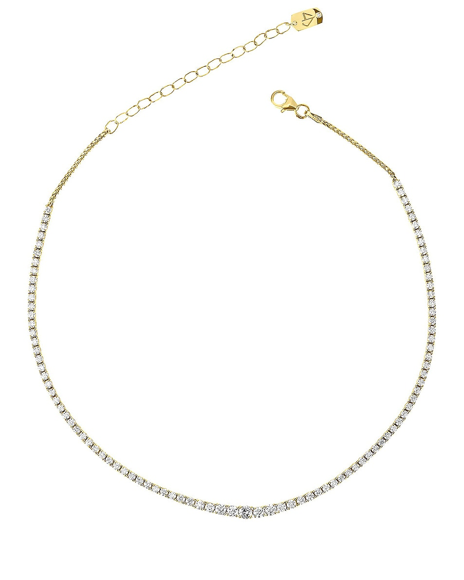 Image 1 of Carbon & Hyde Graduated Tennis Choker in 14K Yellow Gold