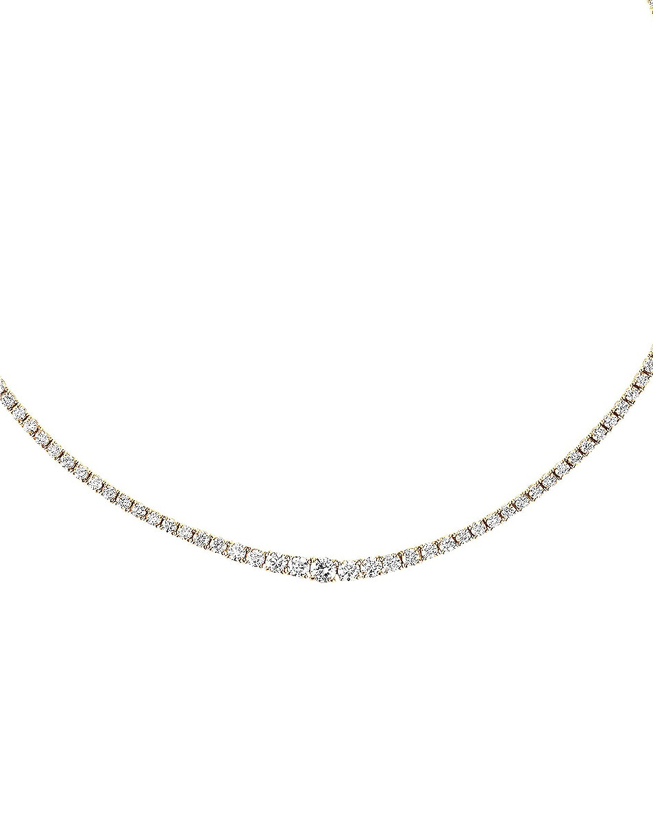 Image 3 of Carbon & Hyde Graduated Tennis Choker in 14K Yellow Gold