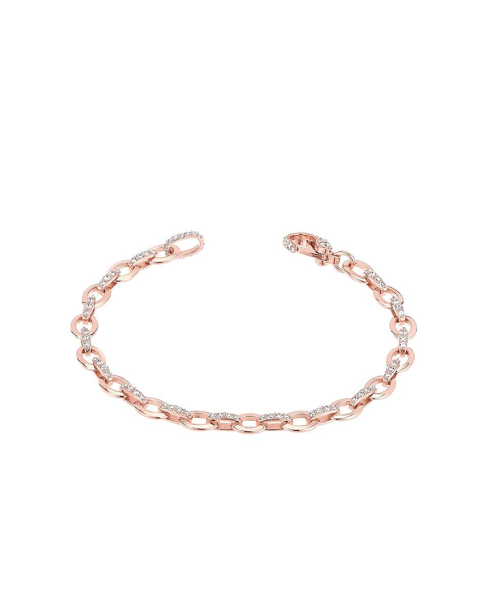 Image 1 of Carbon & Hyde Diamond Linked Bracelet in 14K Rose Gold