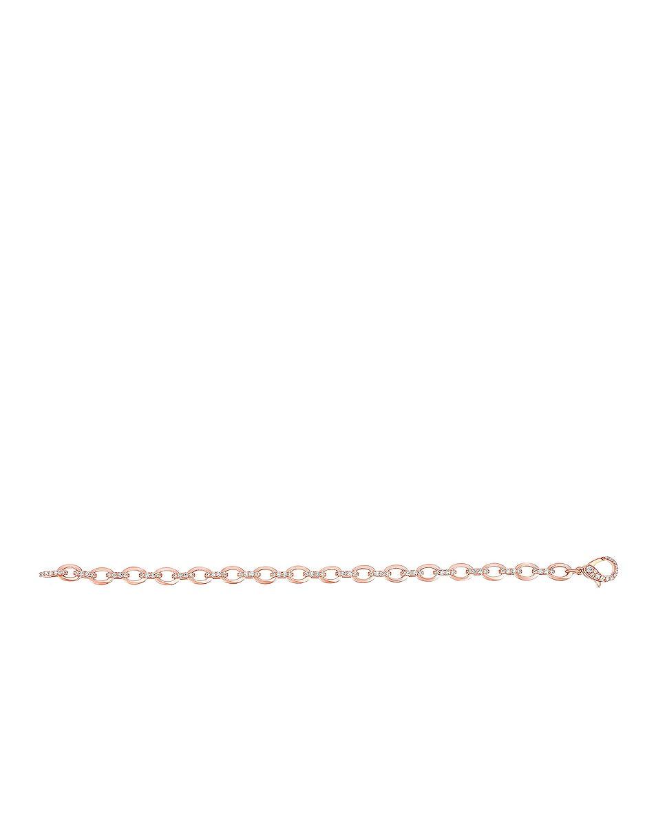 Image 3 of Carbon & Hyde Diamond Linked Bracelet in 14K Rose Gold