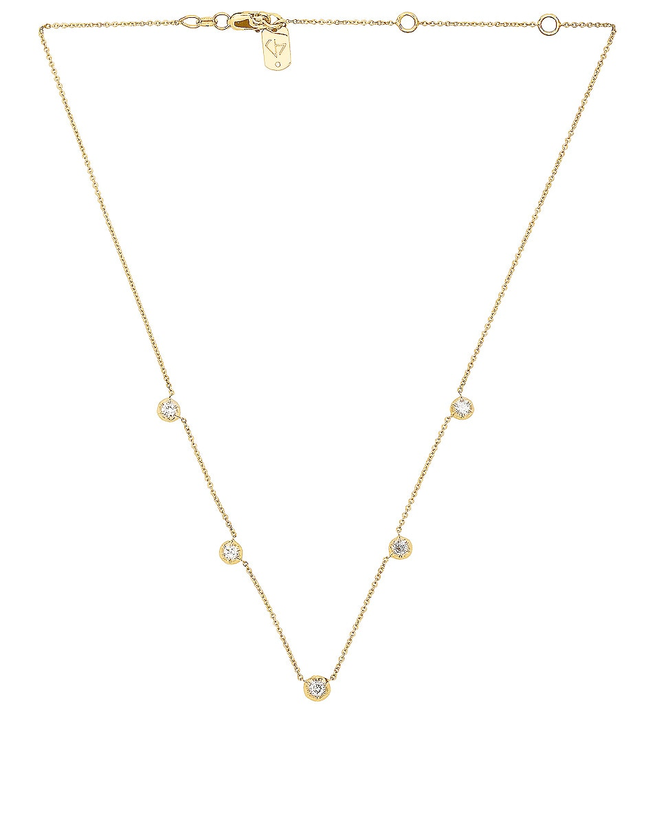Image 1 of Carbon & Hyde Rose Chain Choker in Gold