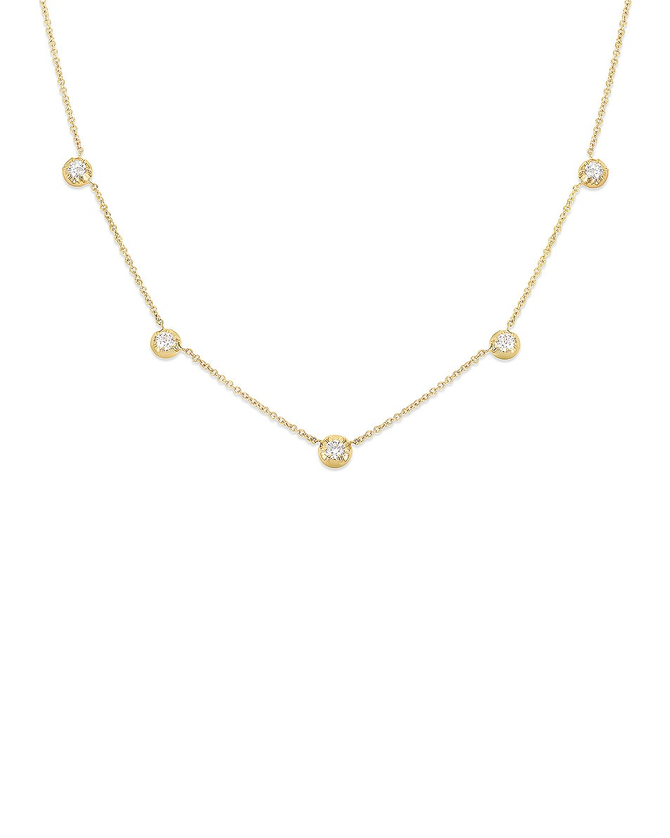 Image 3 of Carbon & Hyde Rose Chain Choker in Gold