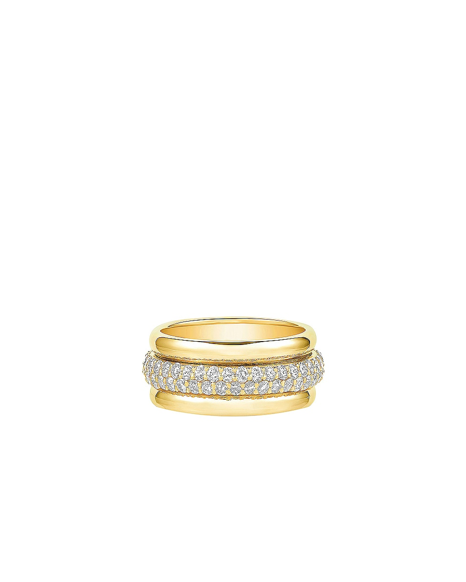 Image 1 of Carbon & Hyde Orbit Ring in 14K Yellow Gold