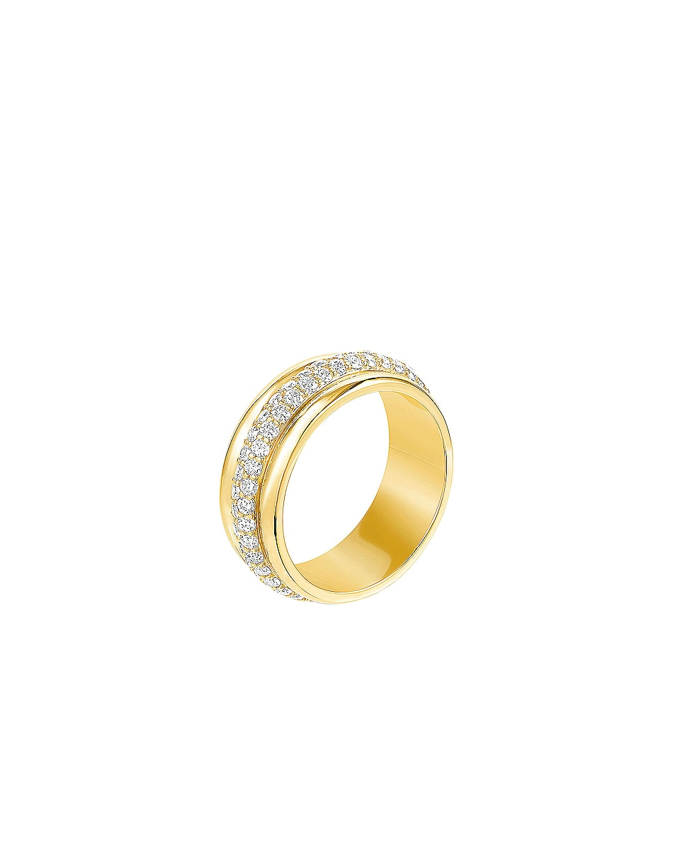 Image 2 of Carbon & Hyde Orbit Ring in 14K Yellow Gold