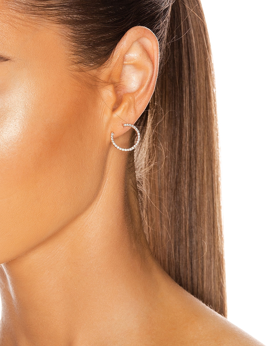 Image 2 of Carbon & Hyde Swirl Hoops in 14K Rose Gold