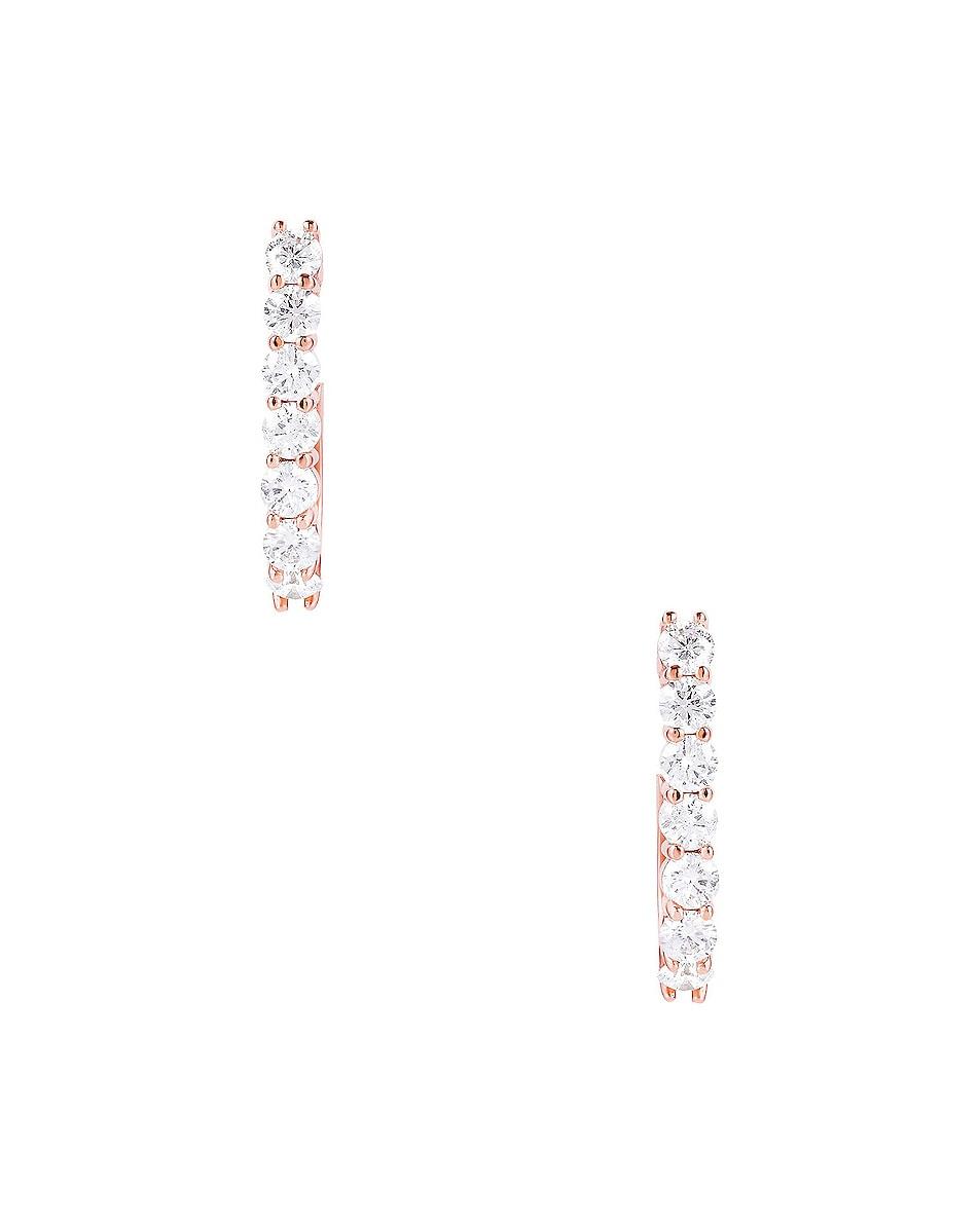 Image 3 of Carbon & Hyde Sparkler Pin Earrings in 14K Rose Gold