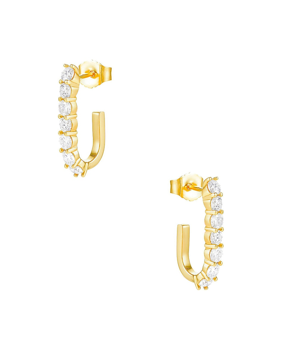 Image 1 of Carbon & Hyde Sparkler Pin Earrings in 14K Yellow Gold