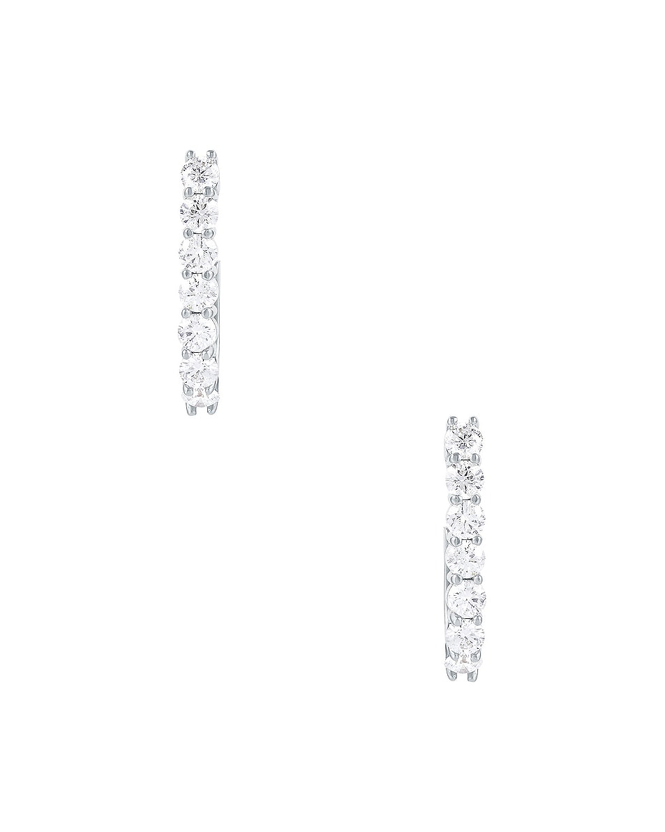 Image 2 of Carbon & Hyde Sparkler Pin Earrings in 14K White Gold