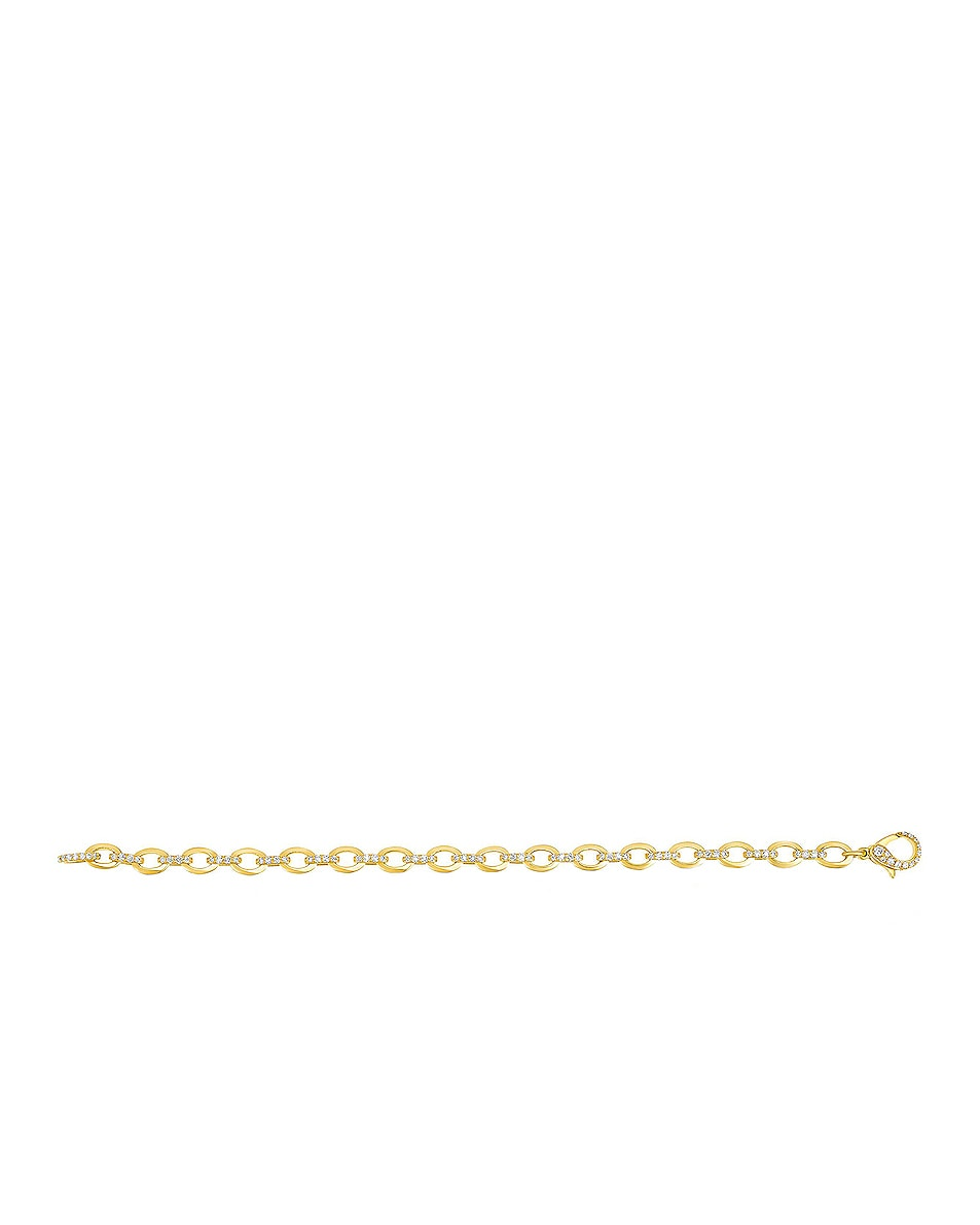 Image 3 of Carbon & Hyde Diamond Linked Bracelet in 14K Yellow Gold