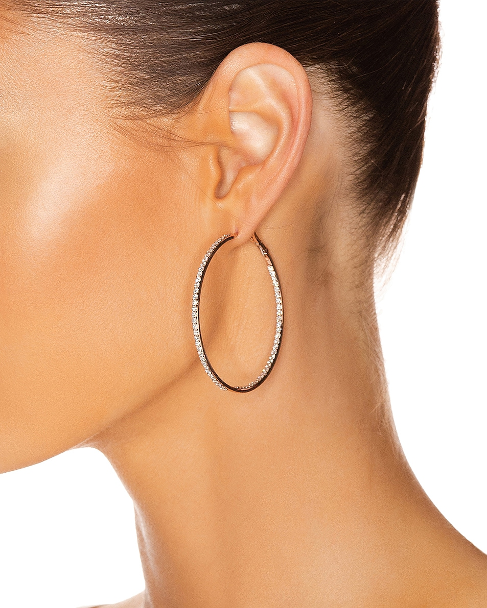 Image 2 of Carbon & Hyde Infinity Hoops in 14K Rose Gold