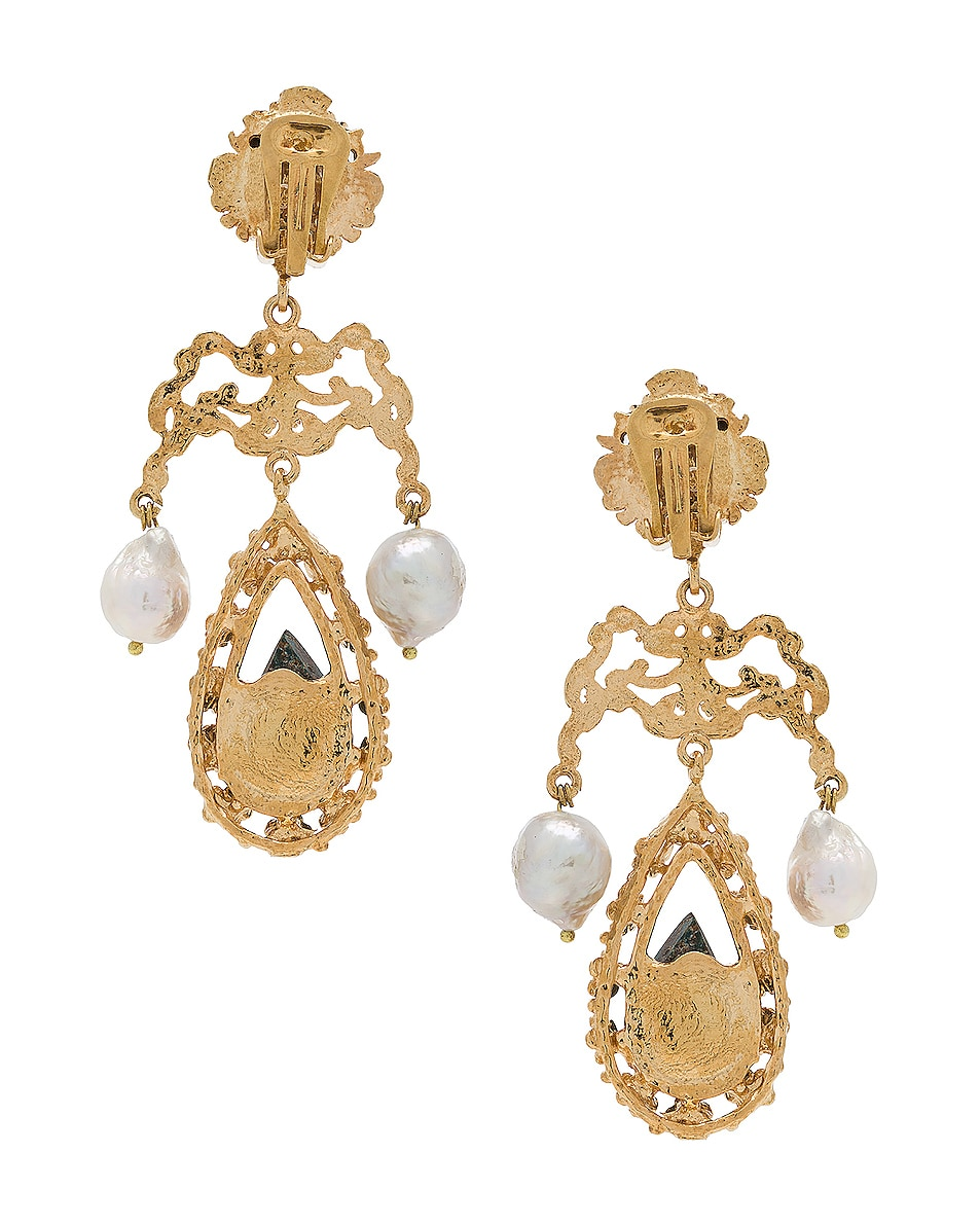 Image 4 of Christie Nicolaides Liliana Earrings in Gold & Turquoise