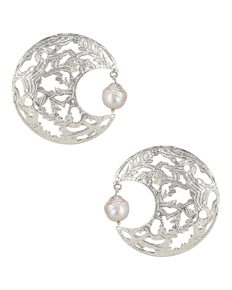 Image 1 of Christie Nicolaides Angela Earrings in Silver