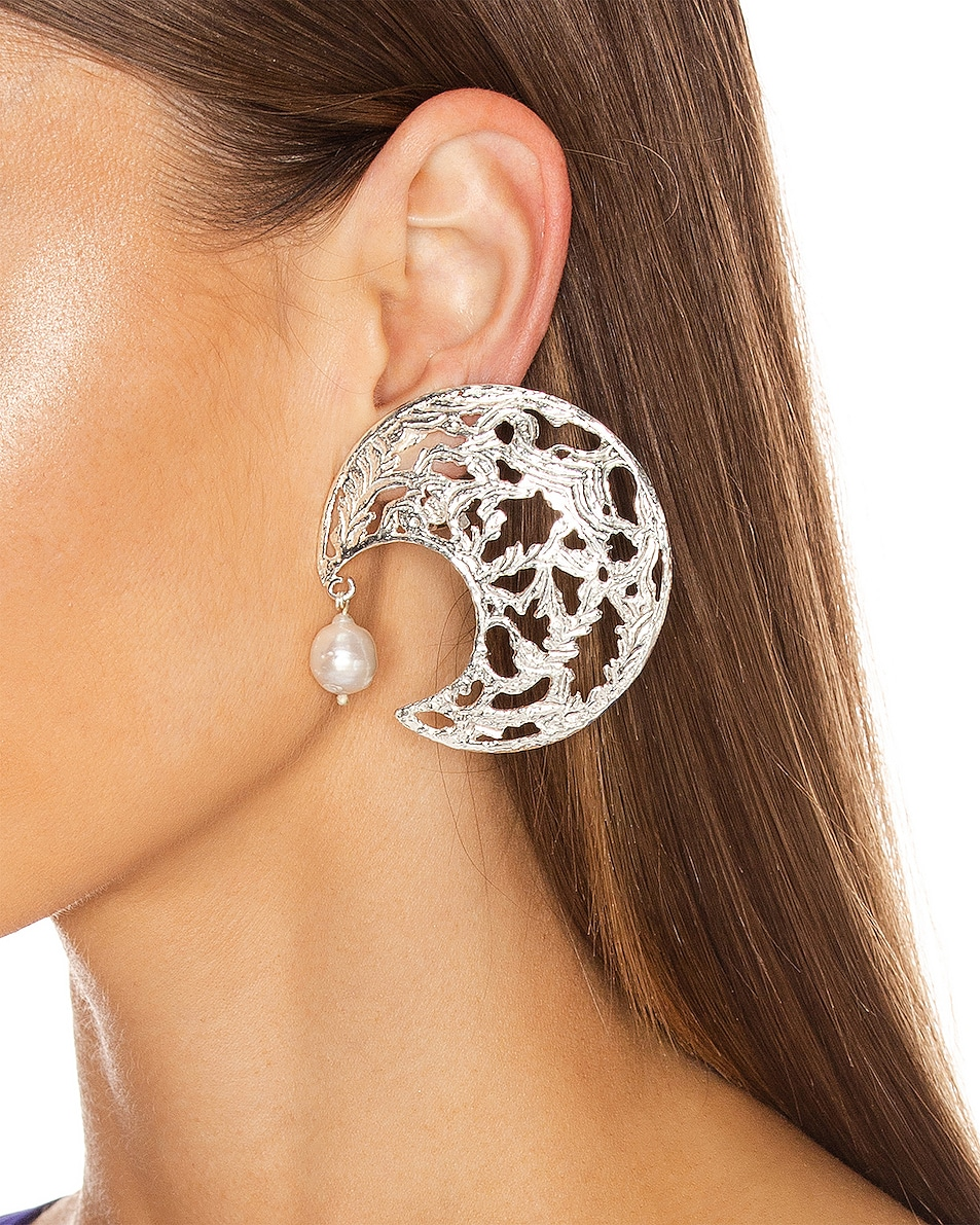 Image 2 of Christie Nicolaides Angela Earrings in Silver