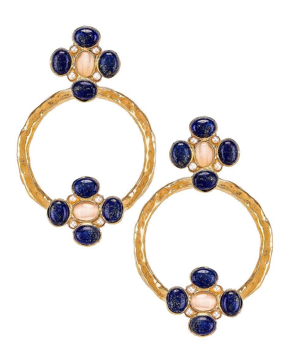 Image 1 of Christie Nicolaides Cruz Earrings in Blue