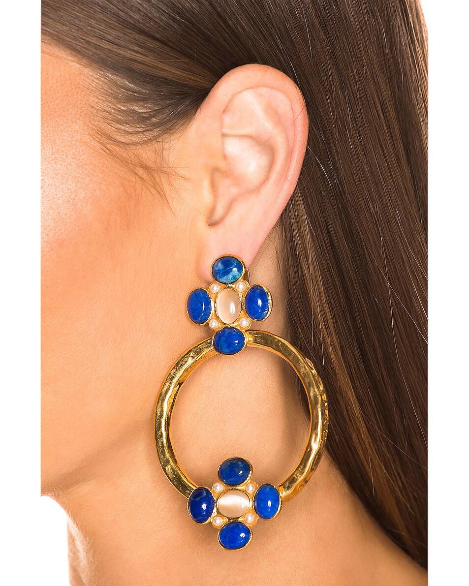 Image 2 of Christie Nicolaides Cruz Earrings in Blue