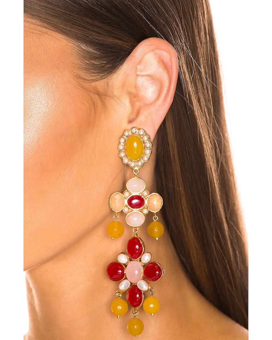 Image 2 of Christie Nicolaides Julietta Earrings in Yellow