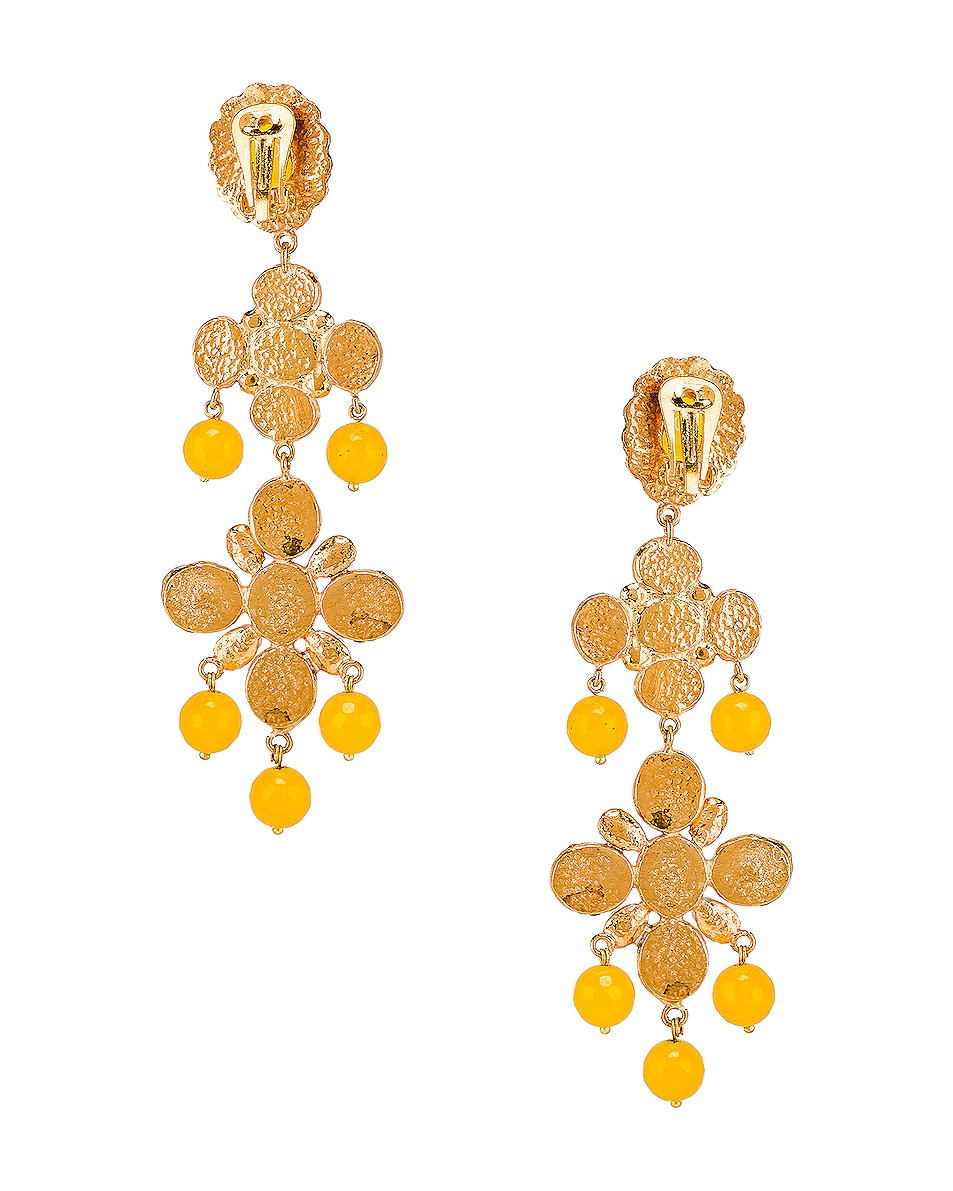 Image 4 of Christie Nicolaides Julietta Earrings in Yellow