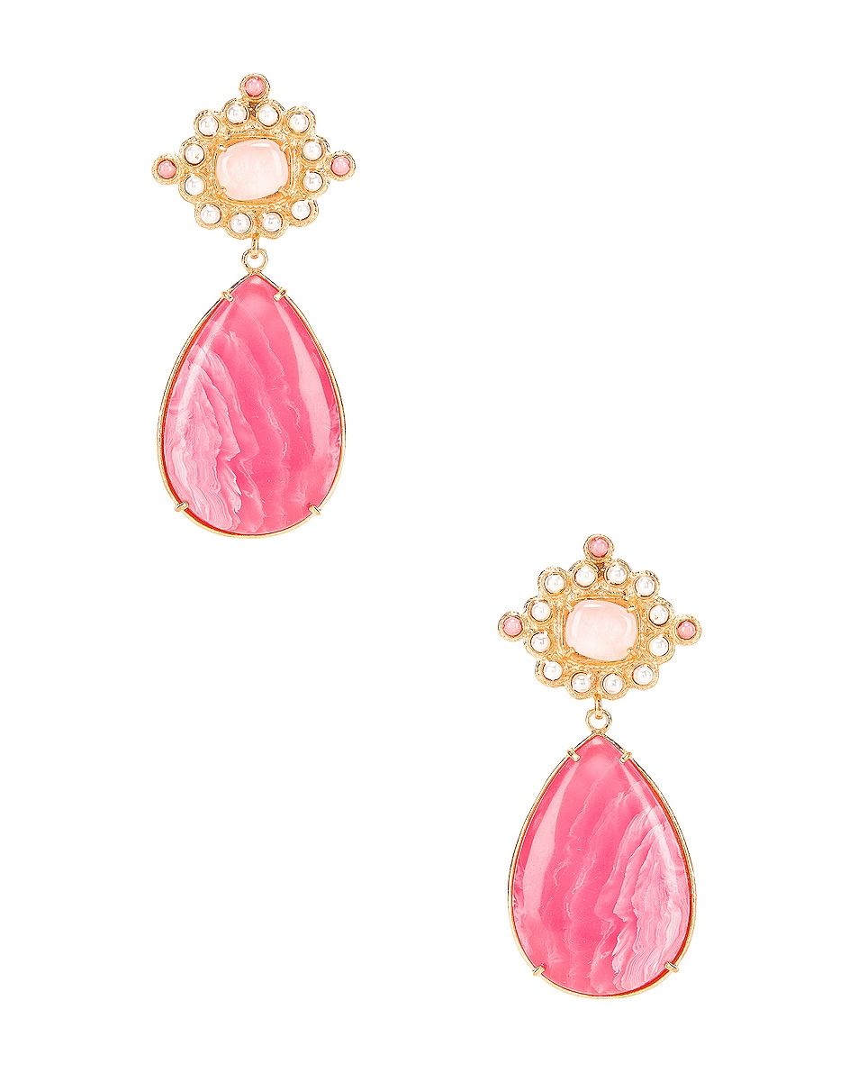 Image 1 of Christie Nicolaides Carmina Earrings in Pink