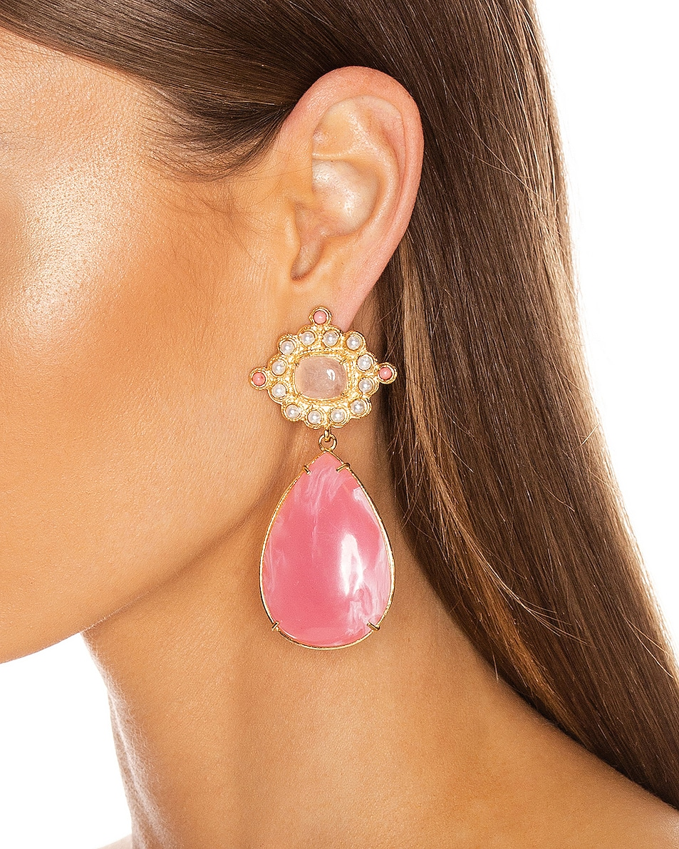 Image 2 of Christie Nicolaides Carmina Earrings in Pink