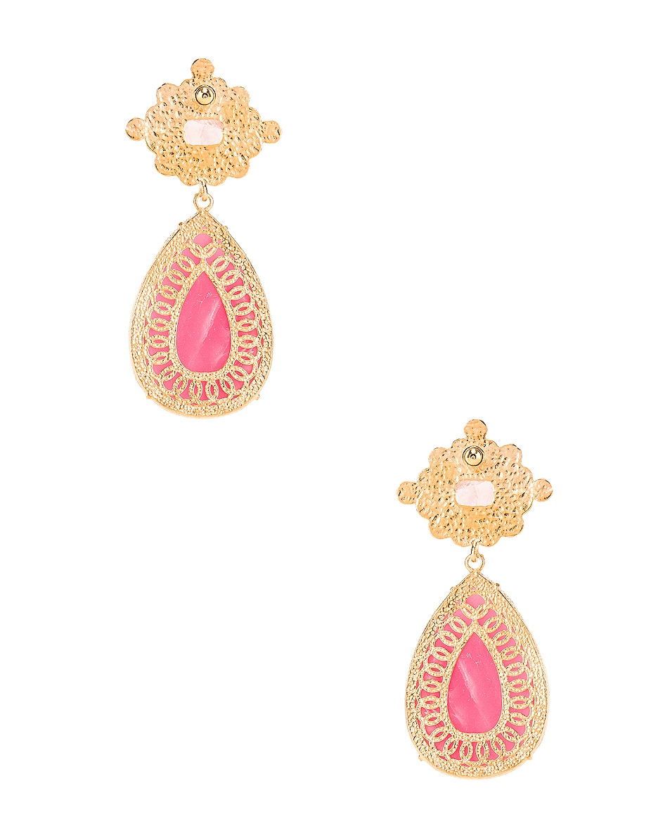 Image 4 of Christie Nicolaides Carmina Earrings in Pink