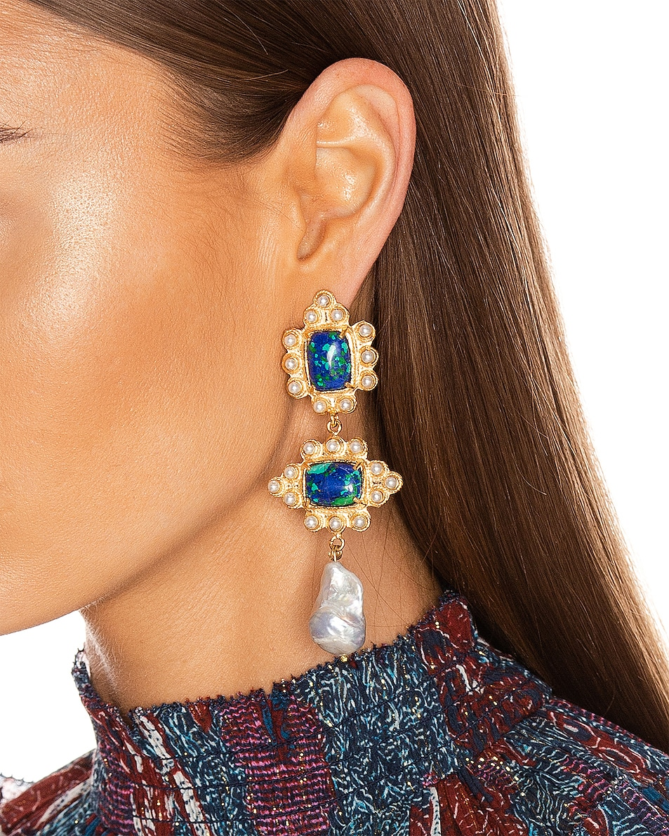 Image 2 of Christie Nicolaides Graciela Earrings in Amazonite