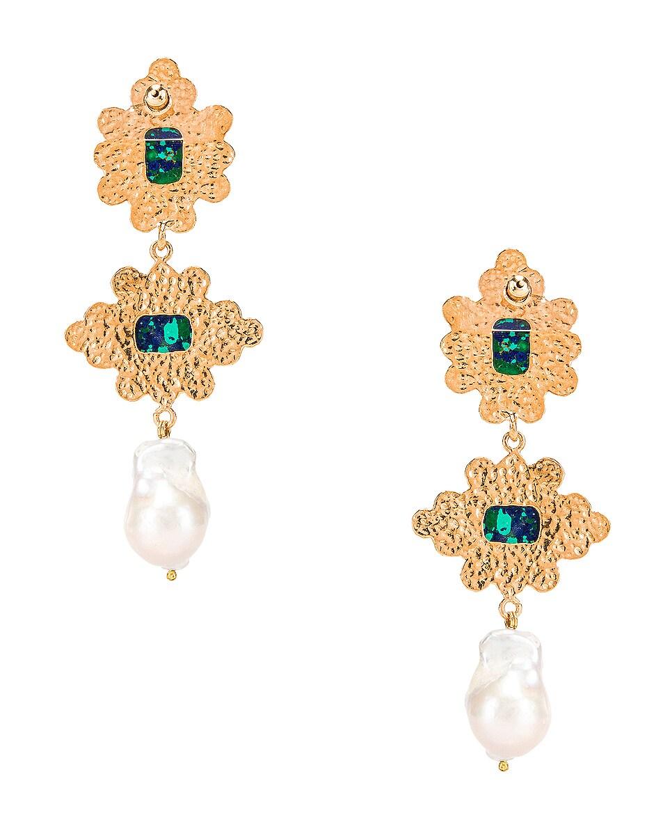 Image 4 of Christie Nicolaides Graciela Earrings in Amazonite