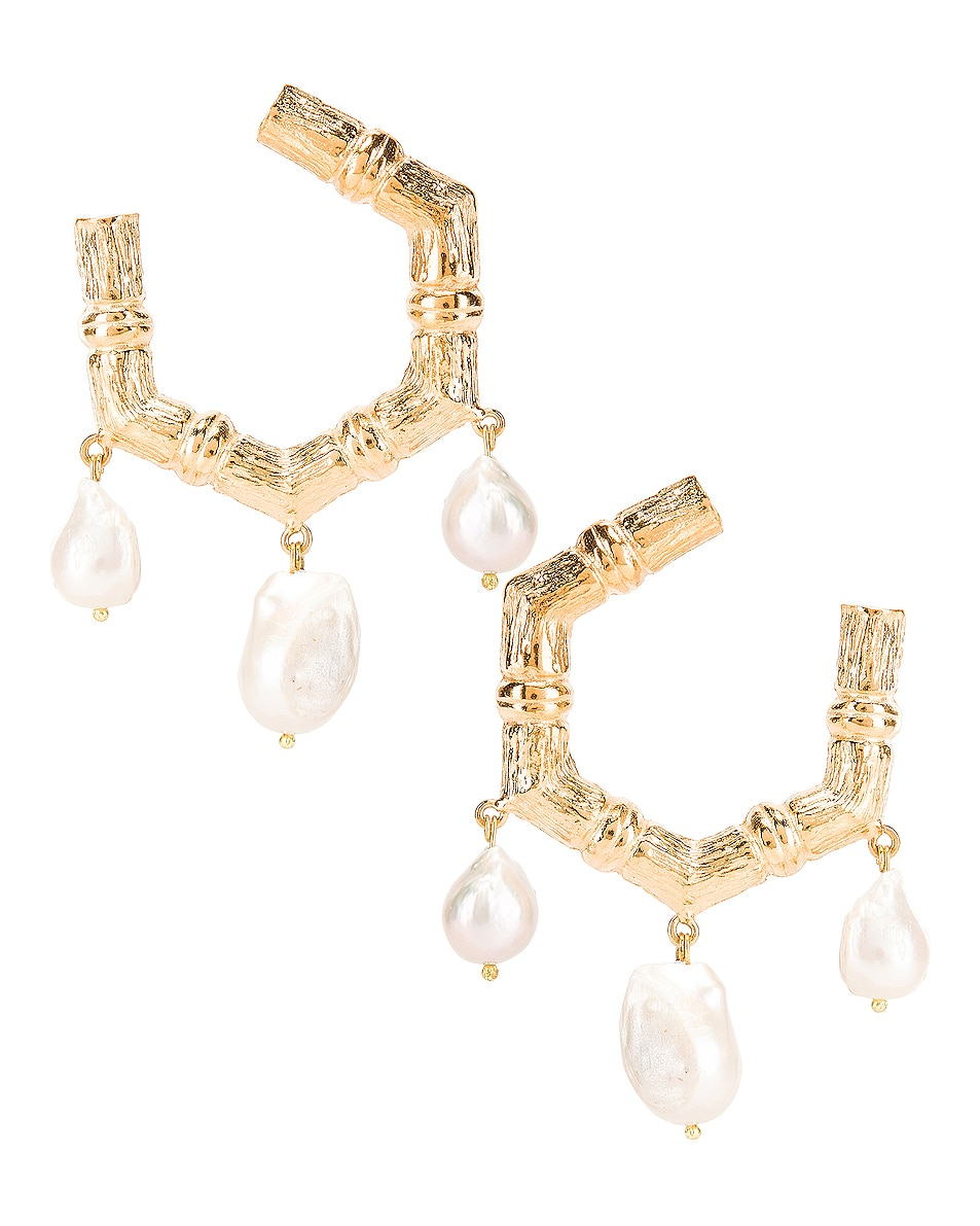 Image 1 of Christie Nicolaides Lareina Earrings in Gold