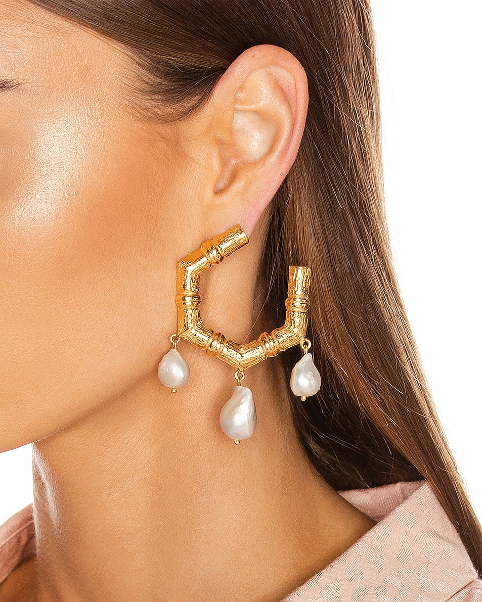 Image 2 of Christie Nicolaides Lareina Earrings in Gold