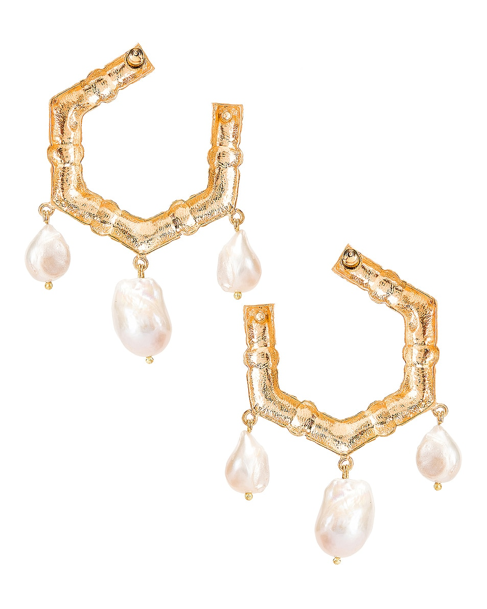 Image 4 of Christie Nicolaides Lareina Earrings in Gold