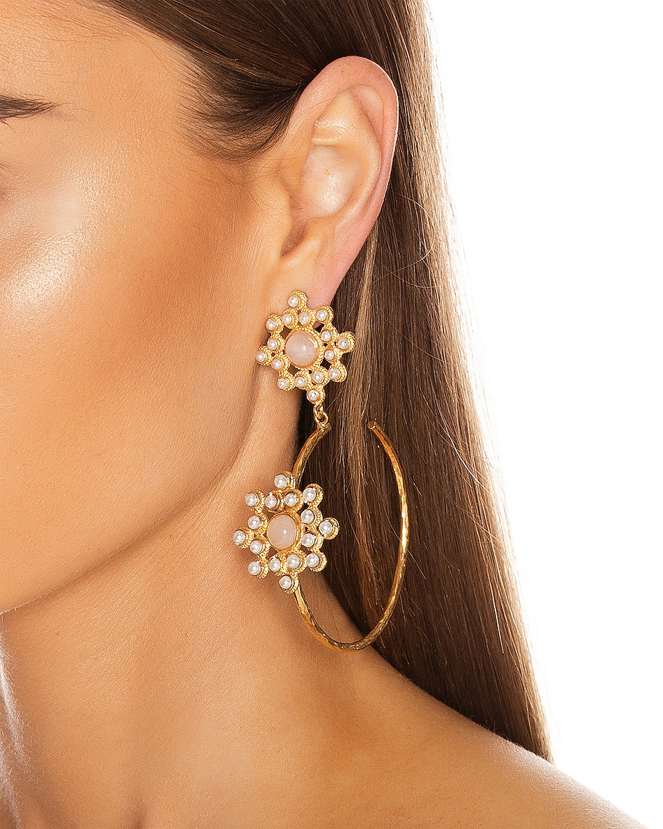 Image 2 of Christie Nicolaides Rosa Maria Hoop Earrings in Pink