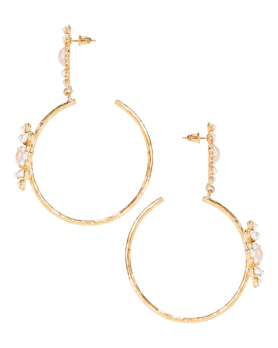 Image 3 of Christie Nicolaides Rosa Maria Hoop Earrings in Pink