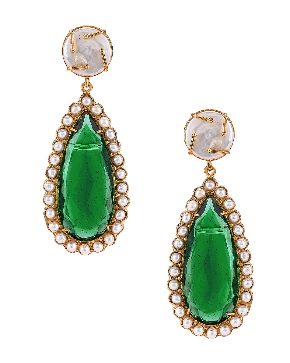 Image 1 of Christie Nicolaides Grazia Earrings in Green