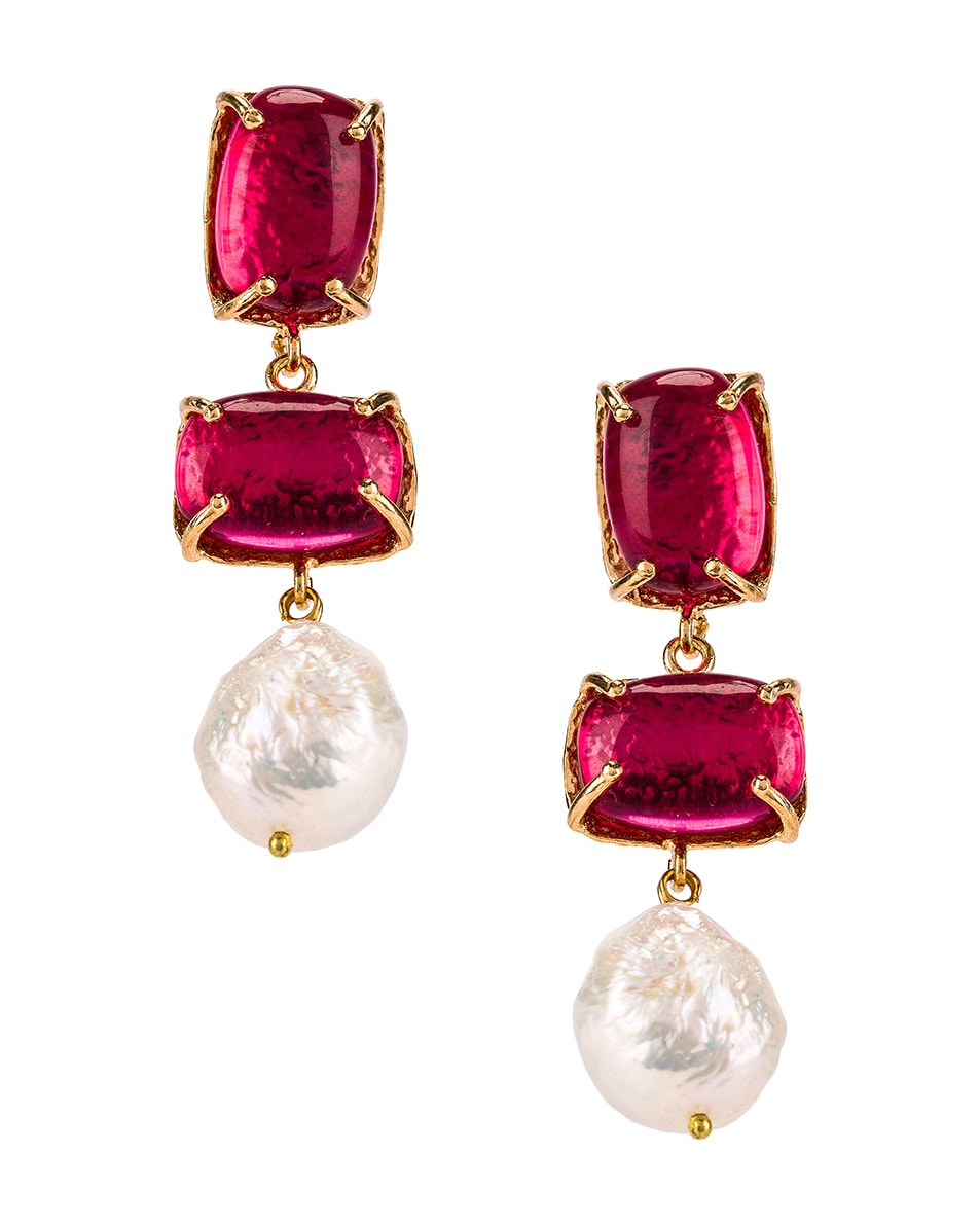 Image 1 of Christie Nicolaides Loren Earrings in Pink