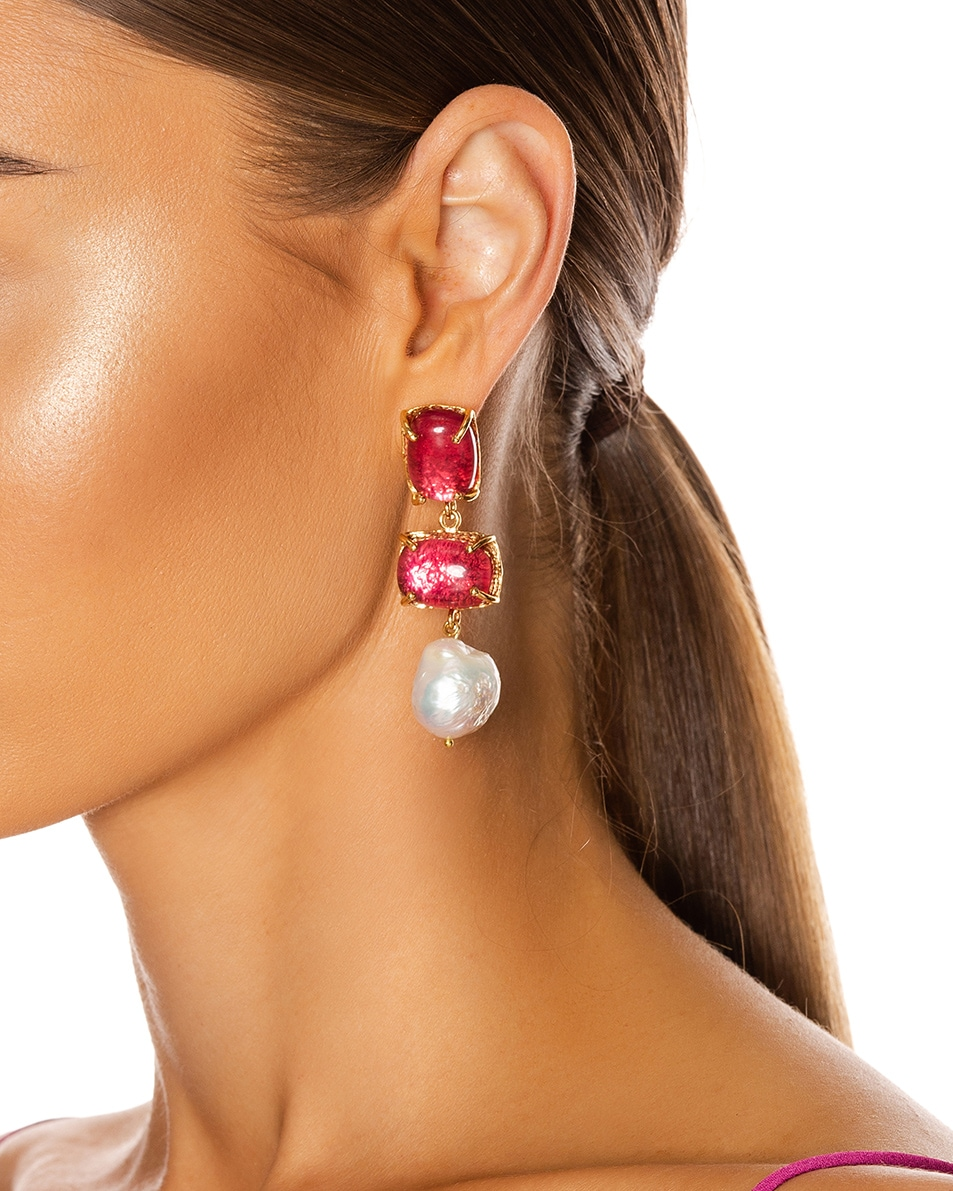 Image 2 of Christie Nicolaides Loren Earrings in Pink