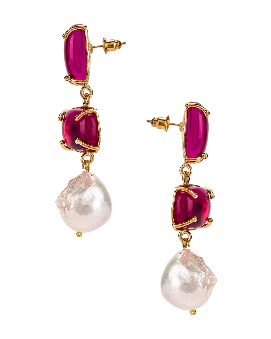 Image 3 of Christie Nicolaides Loren Earrings in Pink