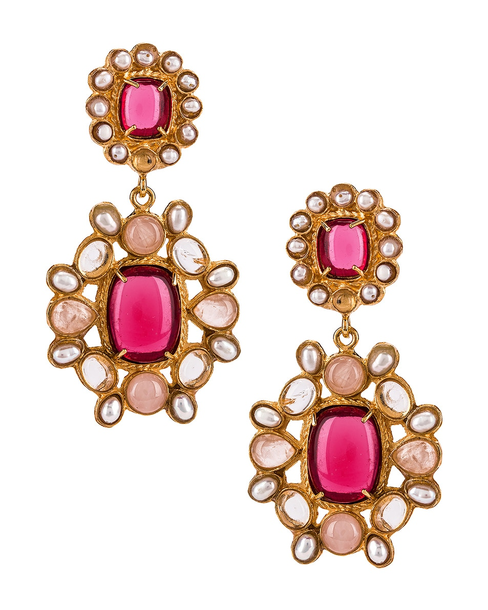 Image 1 of Christie Nicolaides Mirabella Earrings in Pink