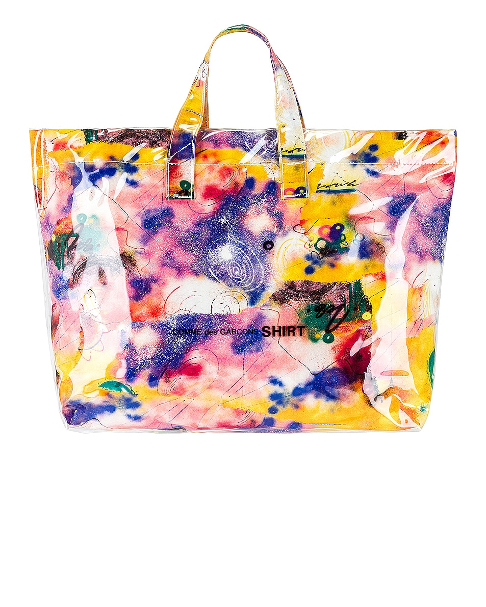 Image 1 of Comme Des Garcons SHIRT Futura Print Tote Bag in Print C