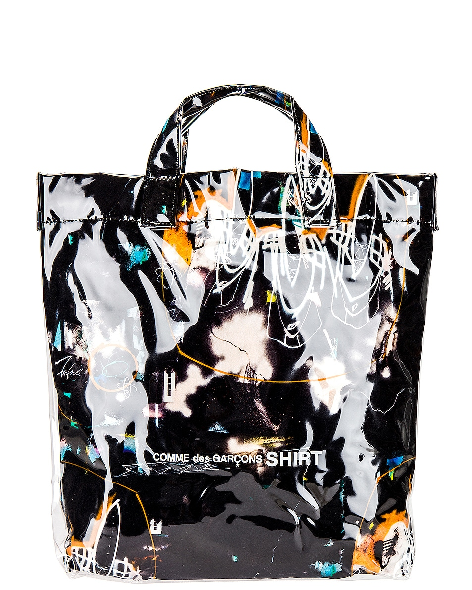 Image 1 of Comme Des Garcons SHIRT Futura Print Tote Bag in Print A