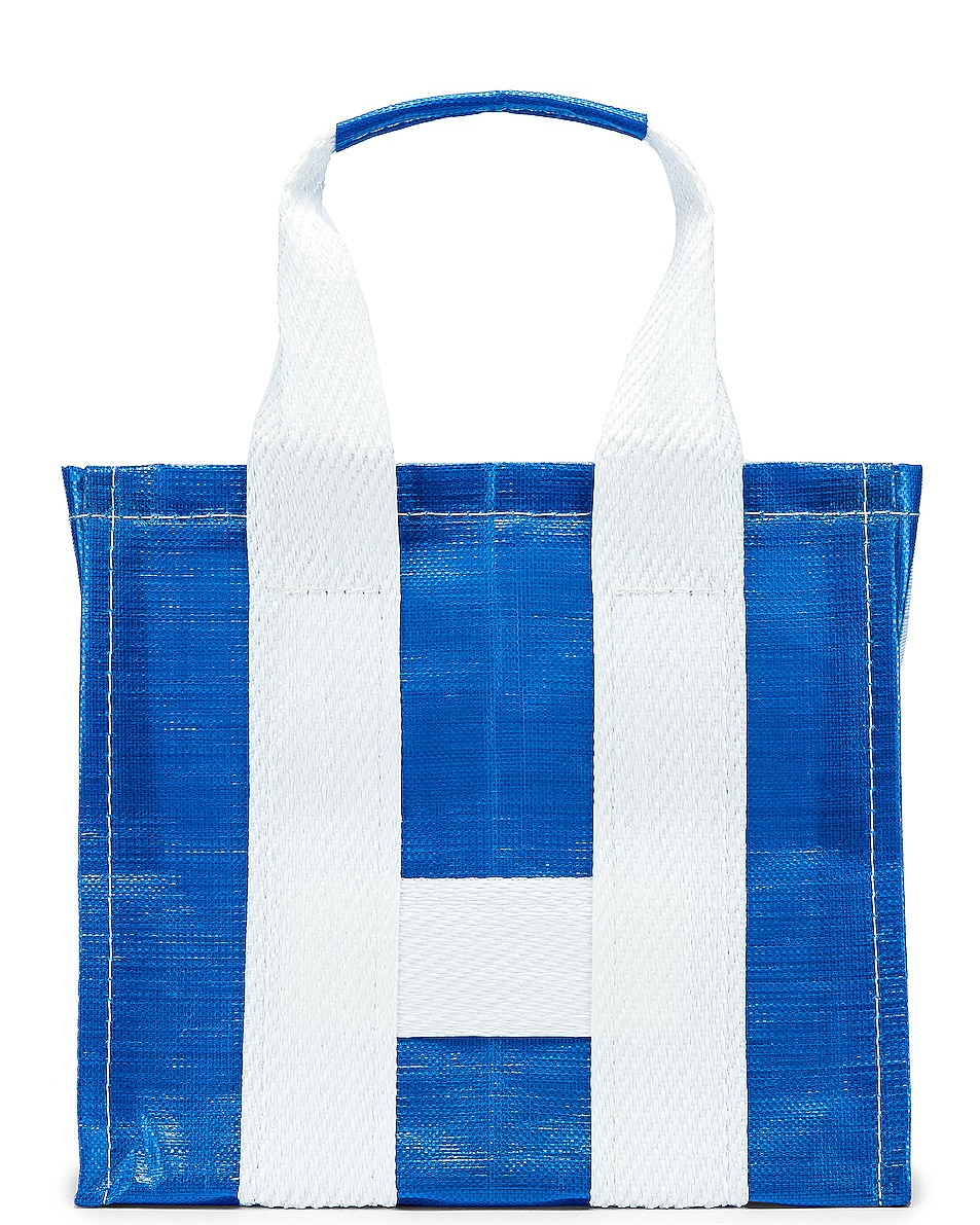Image 1 of Comme Des Garcons SHIRT Large Tote Bag in Blue & White