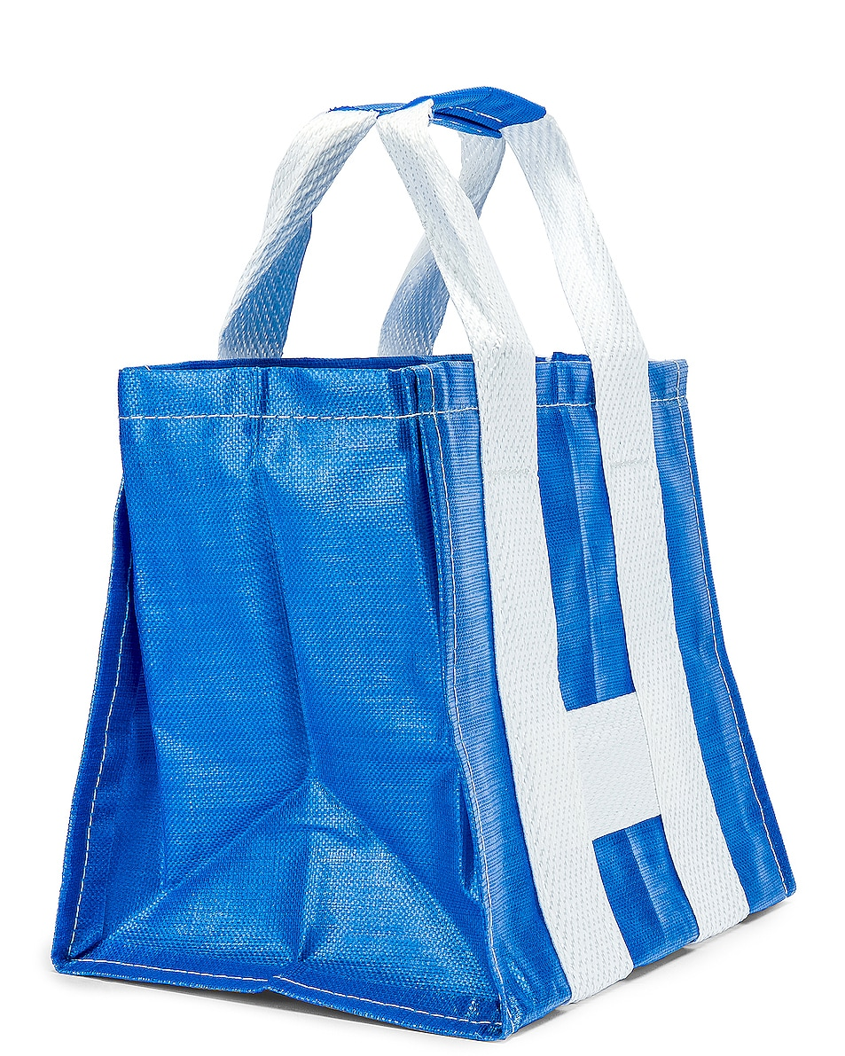 Image 4 of Comme Des Garcons SHIRT Large Tote Bag in Blue & White