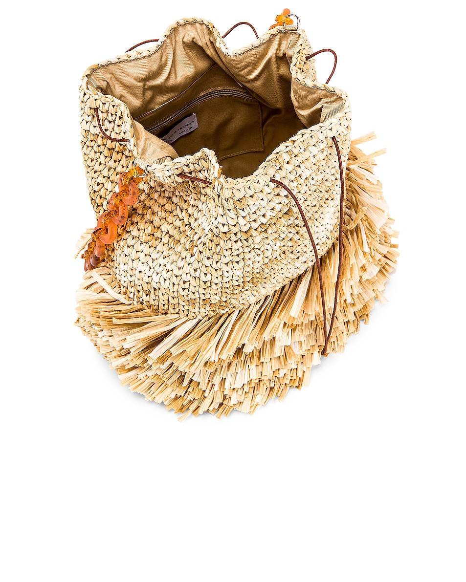 Image 5 of Carolina Santo Domingo Corallina Large Bucket in Raffia Natural