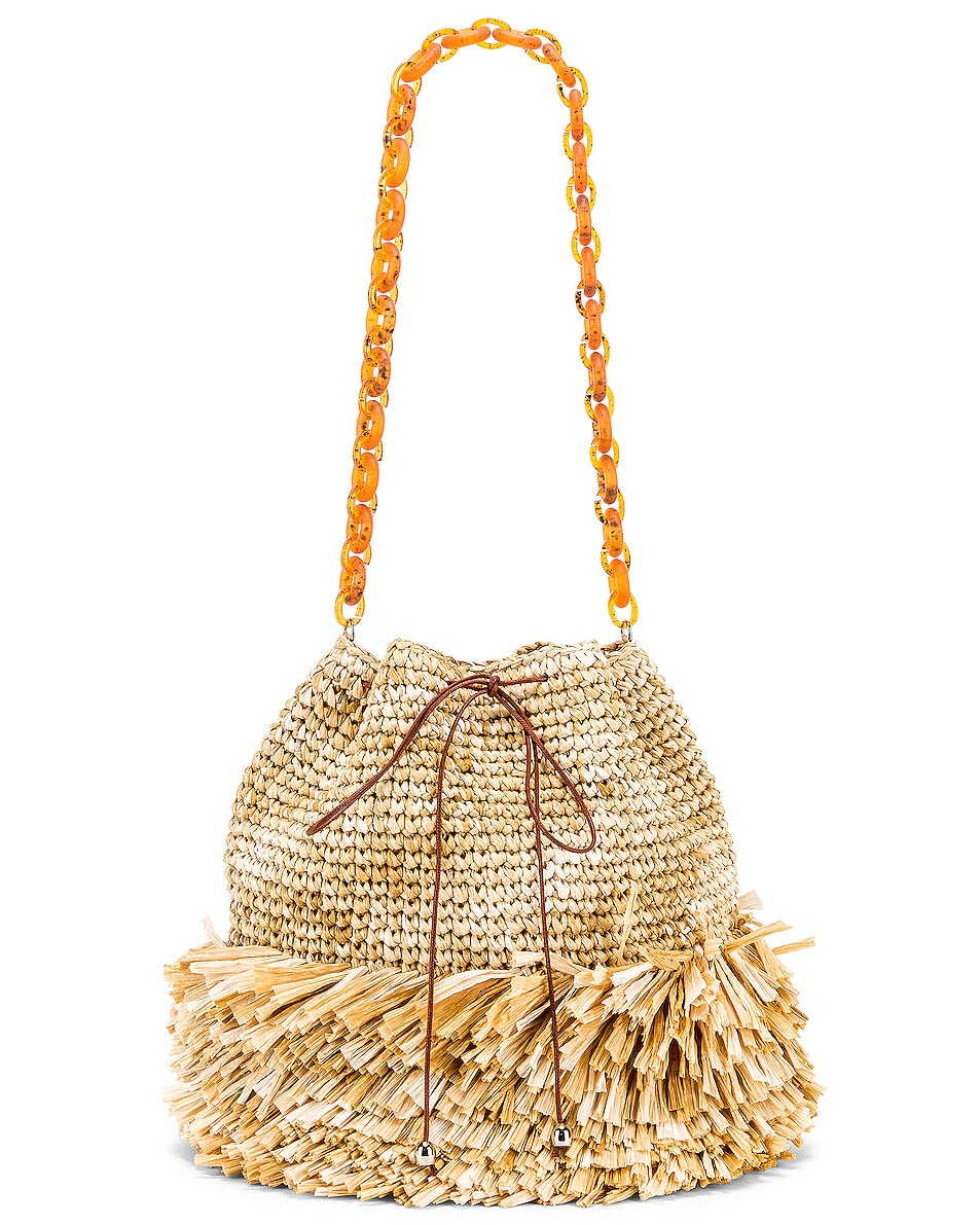 Image 6 of Carolina Santo Domingo Corallina Large Bucket in Raffia Natural