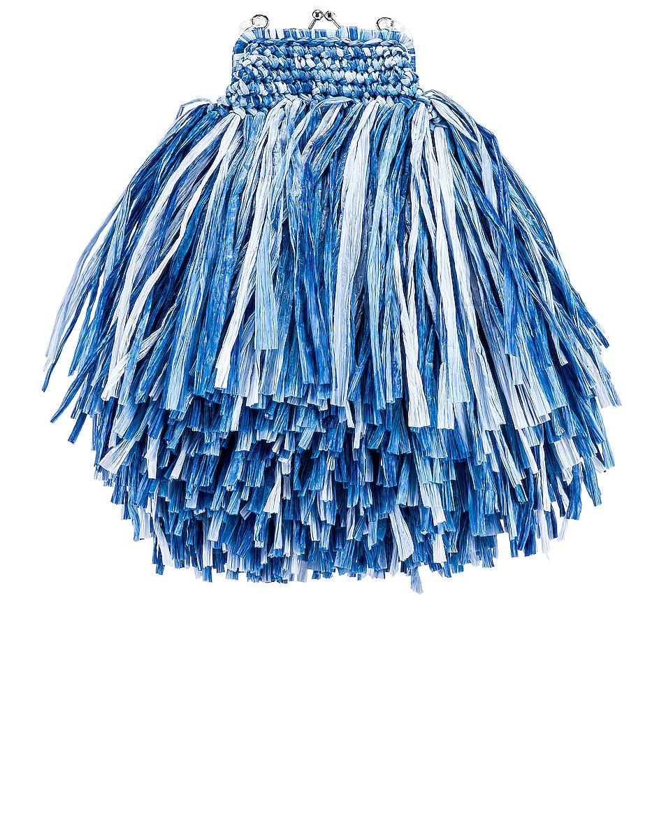 Image 3 of Carolina Santo Domingo Mae Small Bag in Raffia Jeans