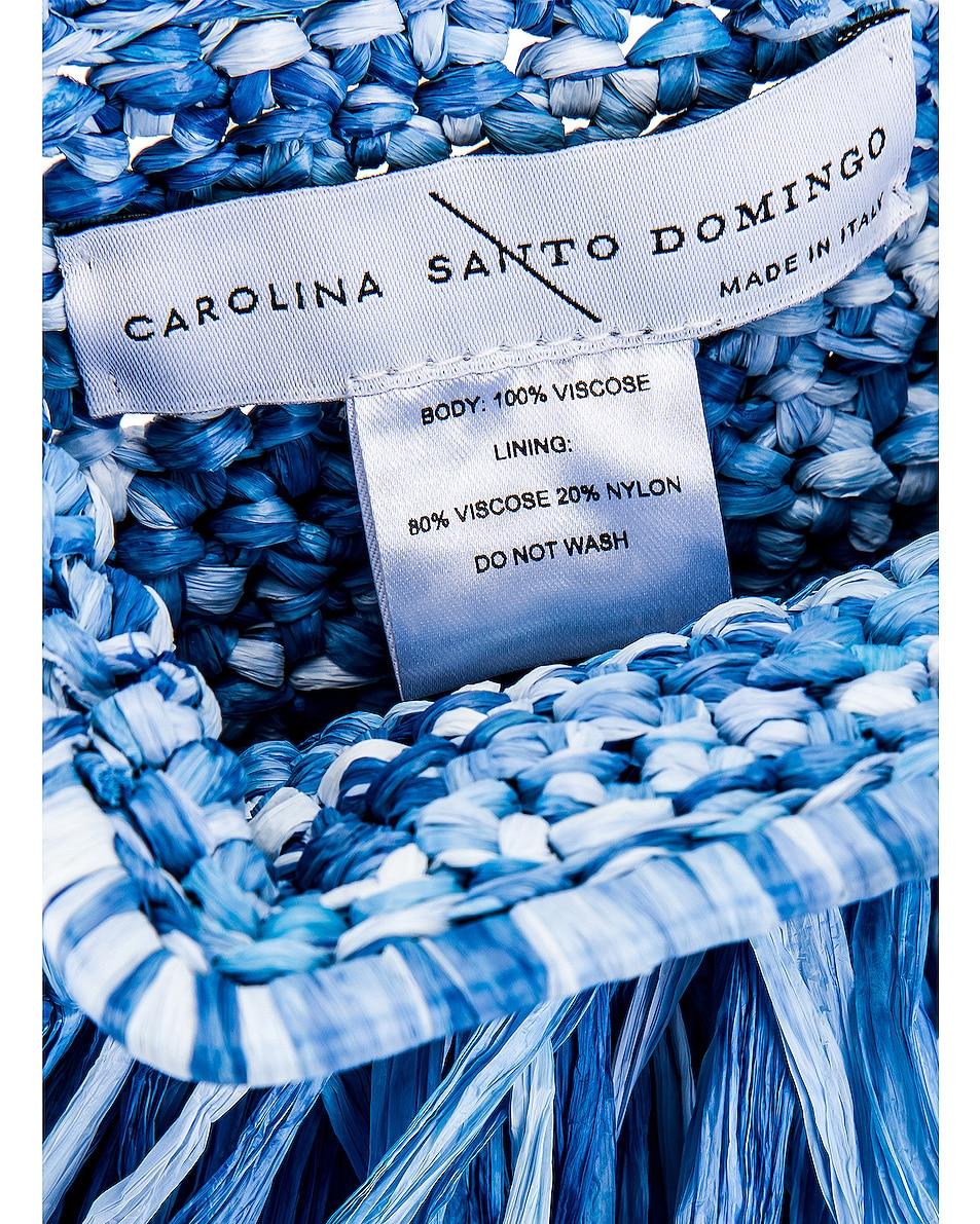 Image 7 of Carolina Santo Domingo Mae Small Bag in Raffia Jeans