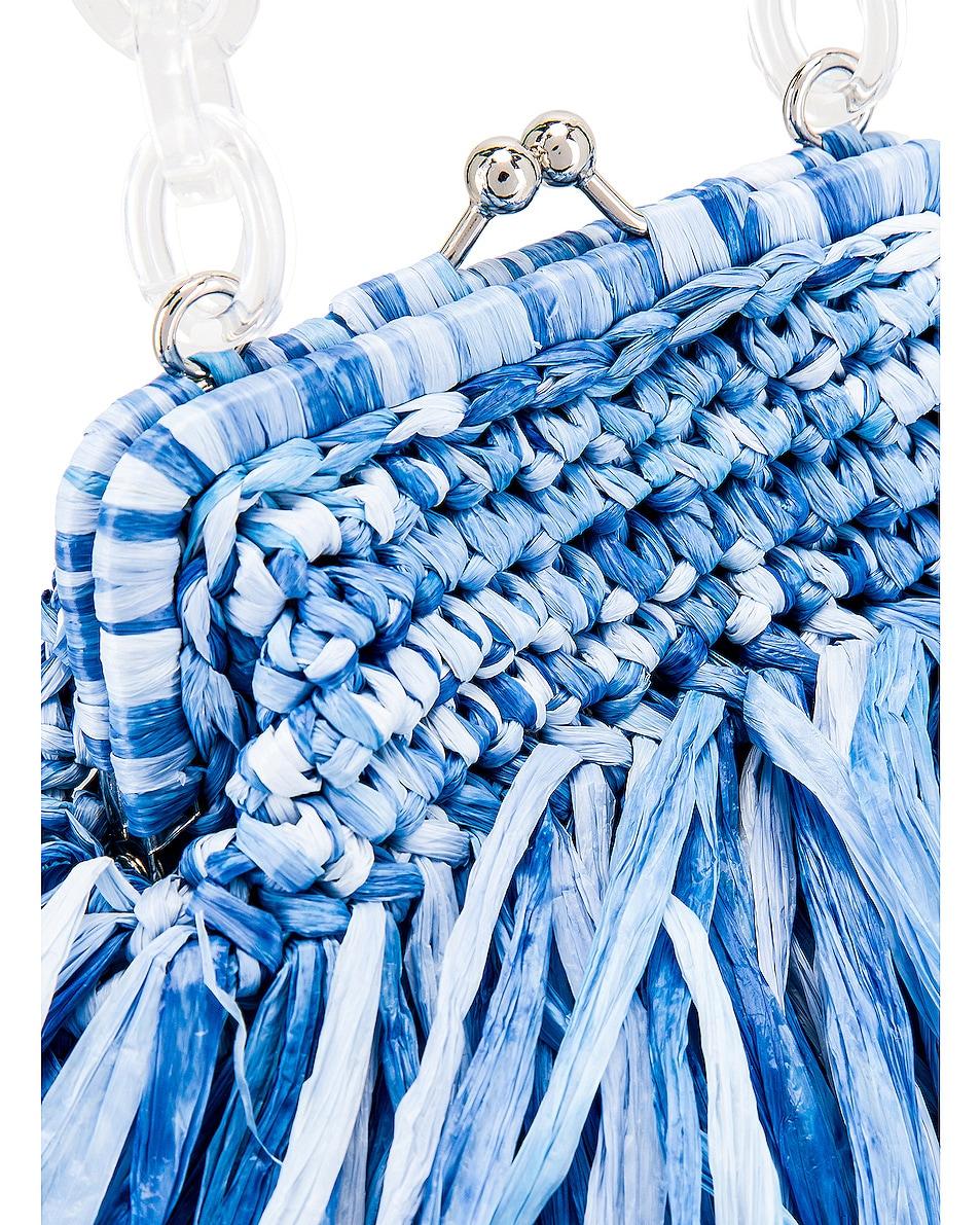 Image 8 of Carolina Santo Domingo Mae Small Bag in Raffia Jeans