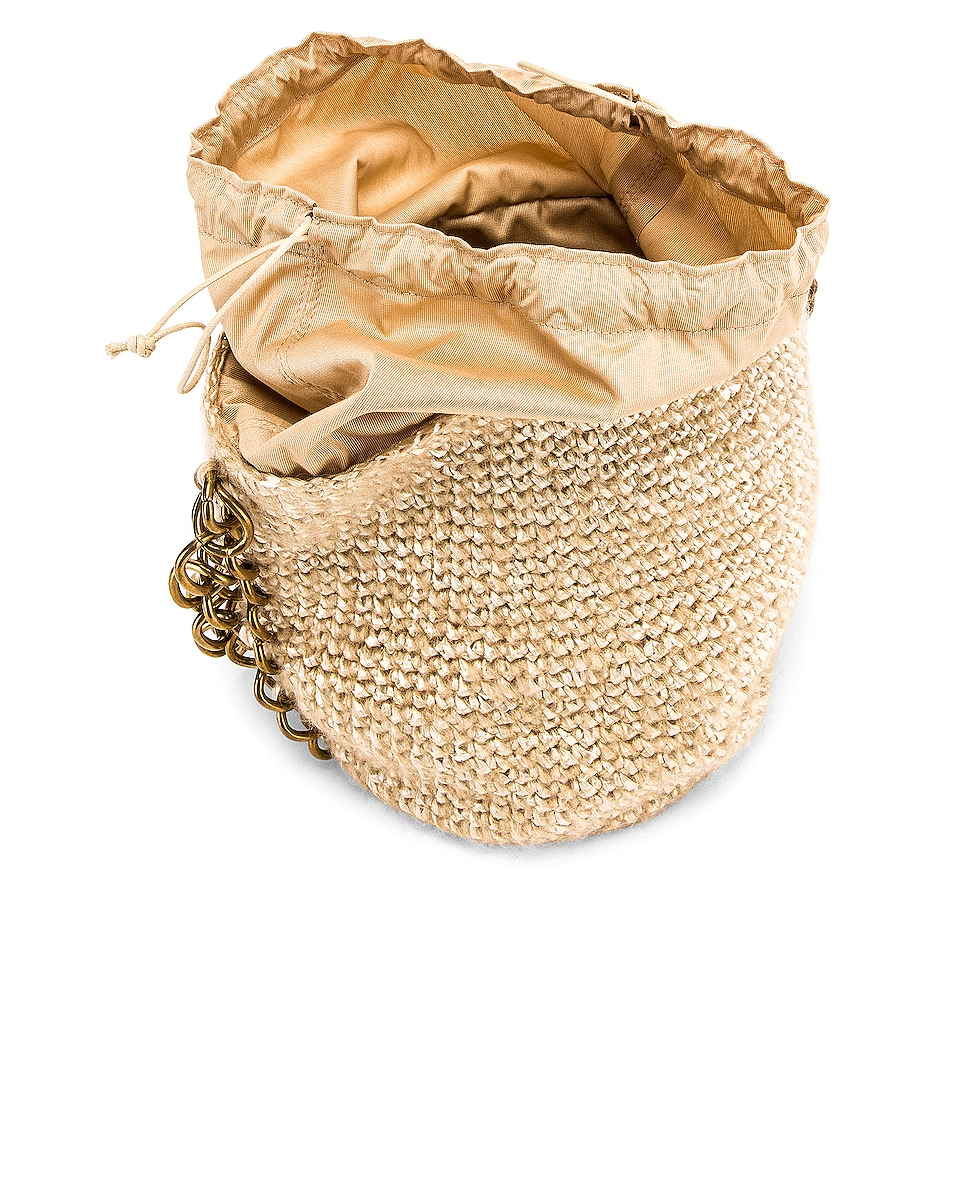 Image 4 of Carolina Santo Domingo Small Raffia Bucket Bag in Mohair Pearl