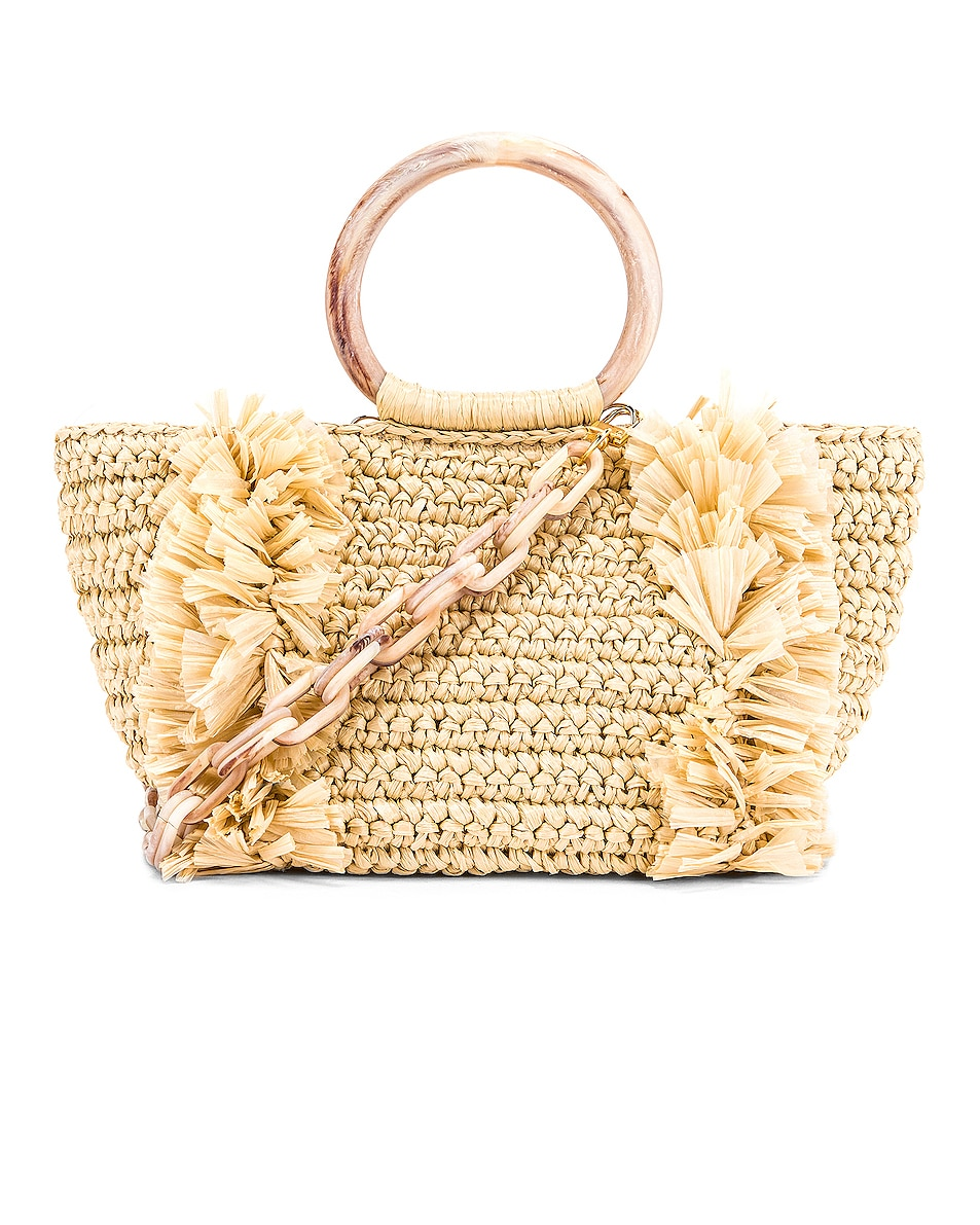 Image 1 of Carolina Santo Domingo Corallina Bag in Straw