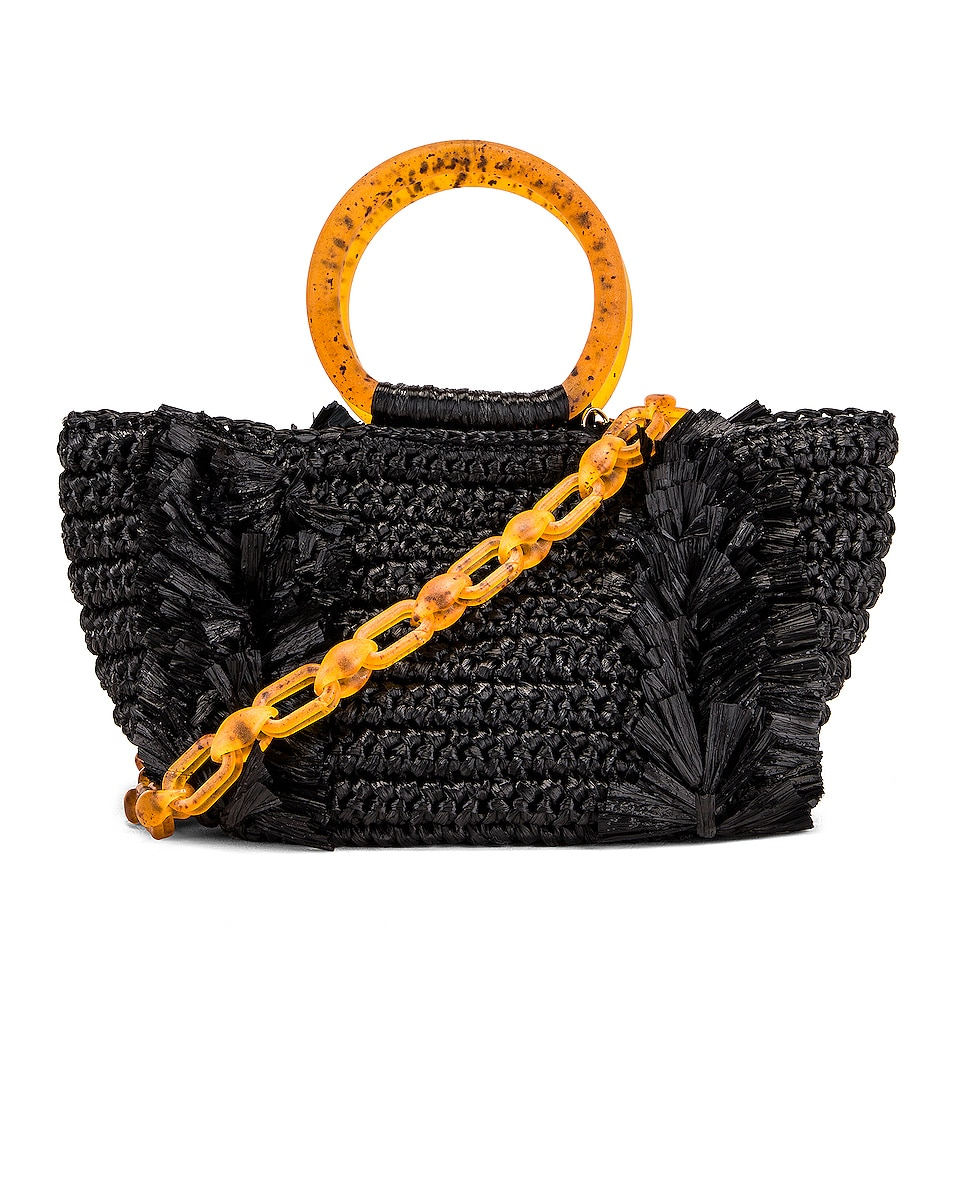 Image 1 of Carolina Santo Domingo Corallina Bag in Black & Amber